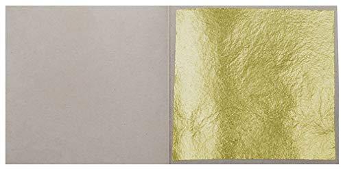 10 Blatt Echtes Blattgold 3,8 x 3,8 cm 23,75 Karat Echtgold Speisen Essbar