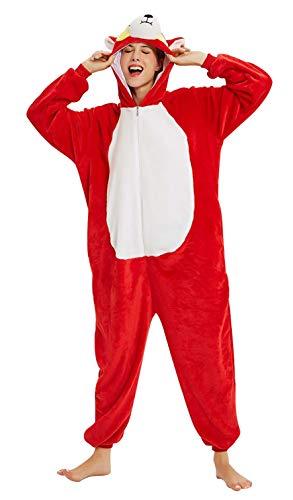 Landove Unisex Pigiama Unicorno Tigre Leone Volpe Rauco Gatto Coniglio Tuta Animale Adulto Bambino Halloween Cosplay Costume Carnevale Travestimenti Fancy Dress Loungewear Regalo di Compleanno Natale
