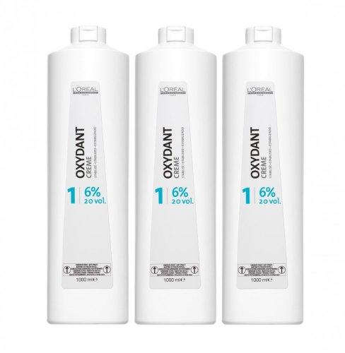 Loreal 6% Oxydant Creme 3 x 1000 ml H2O2 LP Peroxid 20 Vol. Oxidationscreme