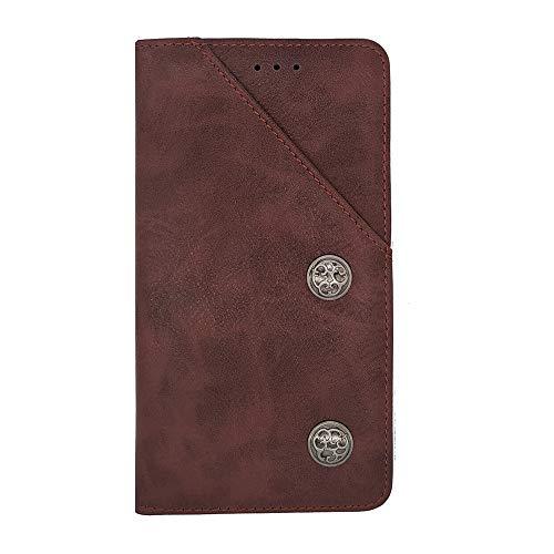 ZYQ Rot Retro Flip Echt Leder Tasche TPU Silikon Gel Schutz Hülle Für Doogee BL7000 Brieftasche Hülle Cover Etui Klapphülle Handytasche