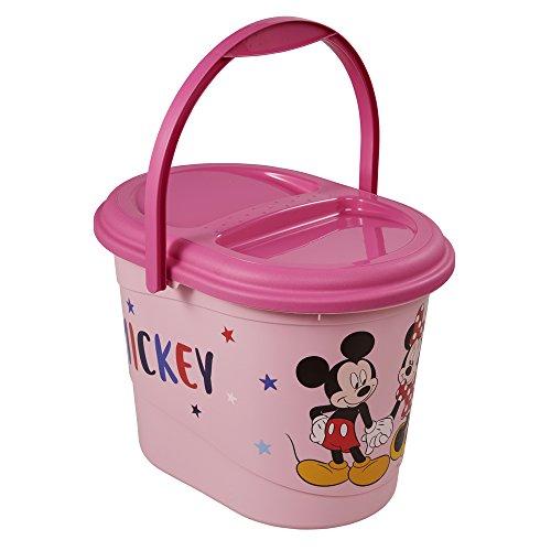 keeeper Disney Mickey und Minnie Maus Windeleimer mit Deckel und Tragegriff, 13 l, Karol, Pink