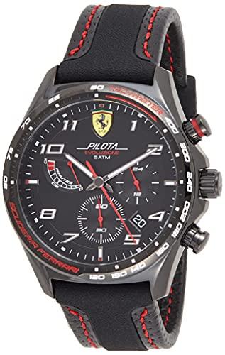 Scuderia Ferrari Reloj para de Cuarzo con Correa en Cuero 830717