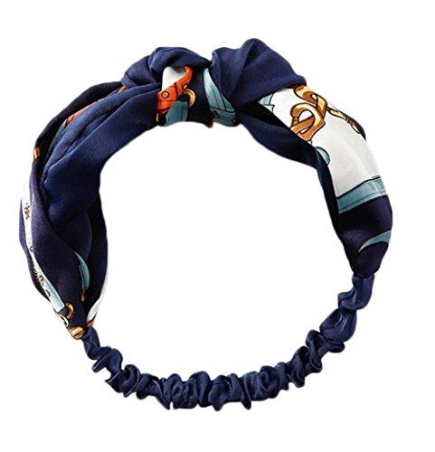 Bigboba - Bandeau rétro extensible avec nœud chinois - Pour le sport - Pour femmes et filles