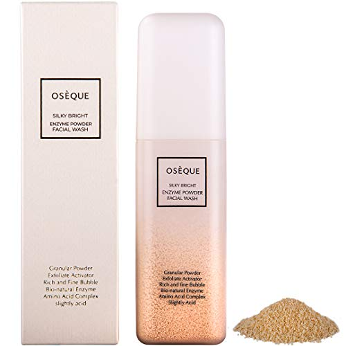 Korean Cleanser Face Wash/Natural Skin Care/Oseque Silky Bright Enzyme Powder Facial Wash (1.76oz / 50g) / Organic Daily Cleaner Facewash