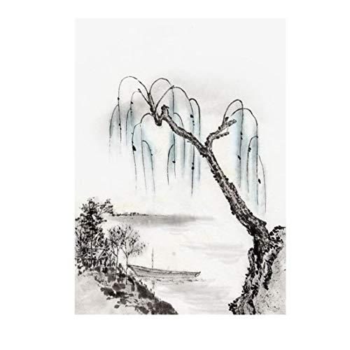 Einfache chinesische abstrakte Tinte Landschaftsmalerei Tapete