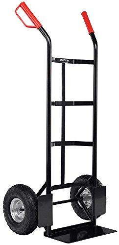 Stagecaptain Carryboy Sackkarre - Transportkarre für Umzug oder Getränkekisten - Stabiler Metallrahmen und Luftreifen mit 26cm Durchmesser - Handkarre mit Sicherheits Haltegriffen - 200kg belastbar