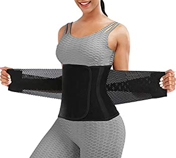 Waist Trainer Belt for Women - Waist Trimmer Weight Loss Ab Belt - Slimming Body Shaper Black,X-Large