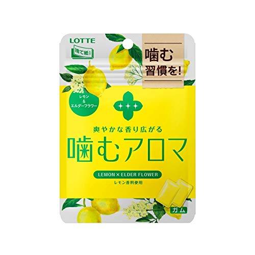 ロッテ 噛むアロマ<レモン&エルダーフラワー>パウチ X1箱(6袋)