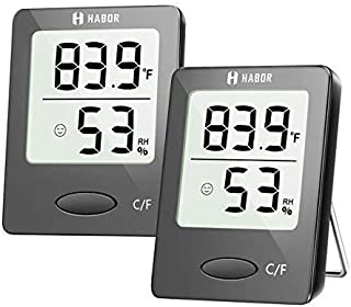 Habor Thermometer Indoor (2 Pack), Superior Mini Digital Hygrometer Indoor Accurate..