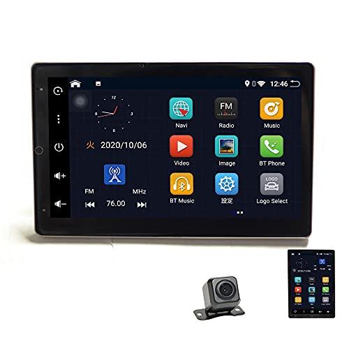 液晶縦表示 アンドロイド10 2DIN Android 10.1インチカーナビ +170度バックカメラセット ウェイクワード ナビコントロール ラジオ Bluetooth 32G HDD カーナビ アンドロイド スマートフォン iPhone WiFi無線接続【一 2din 車用ナビ wowauto[D49C]