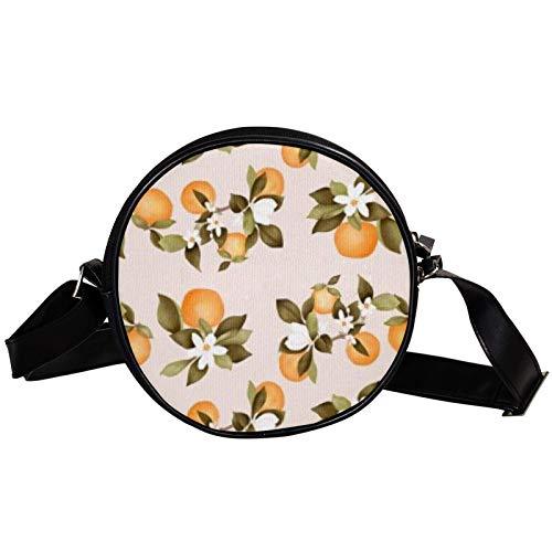 Lush Navel Orange Diagonal Pouch Round Crossbody Wallet Schultertasche Fashion Circle Crossbody Umhängetasche Mini Canvas schräg Umhängetasche