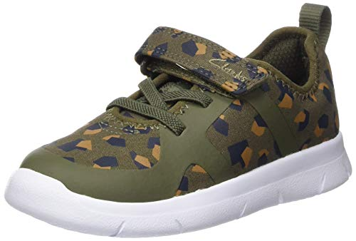 Clarks Jungen Ath Flux T Sneaker, Olive Camo,
