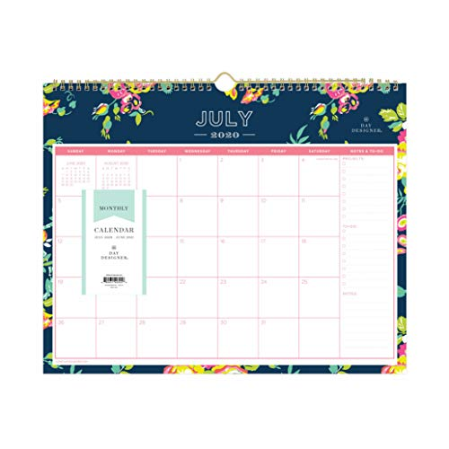 Day Designer for Blue Sky 2020-2021 Academic Year Monthly Wall Calendar, Twin-Wire Binding, 15' x...