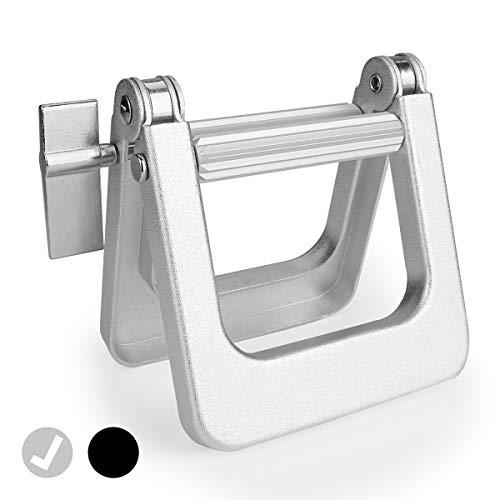 Thingles® Tubenquetscher – Tubenausdrücker zum Entleeren für alle Tuben, Tubenpresse für Kunststoff- und Aluminiumtuben, Tubenentleerer (Silber)