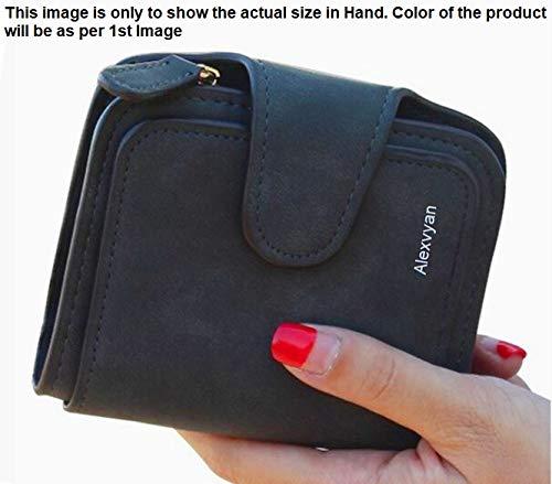 AlexVyan Women's Small Purse Wallet Female Hand Clutch Women/ Ladies/ Girls Wallets Card Holder 3 Pocket (Red)