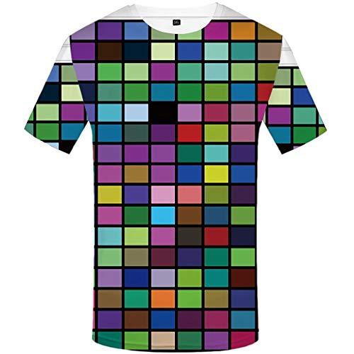 Sylar Camiseta de Manga Corta Talla Grande para Hombre Moda