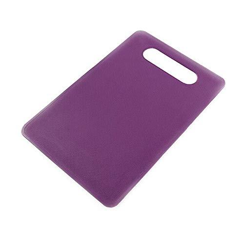 Cuisine Bloc à Hacher Fruits 3pcs / Set Planche à Découper Antidérapant Imitation Marbre Outils Cuisine Accessoires Planche à Découper - Violet