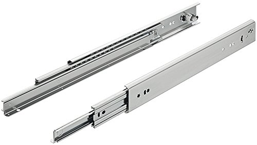 Gedotec Schubladenschiene Schwerlast-Vollauszug 800 mm mit Selbsteinzug für aufliegende Montage - KTAS | Tragkraft bis 219 kg | Stahl verzinkt | 1 Paar - Auszüge für schwere Holz-Schubkästen