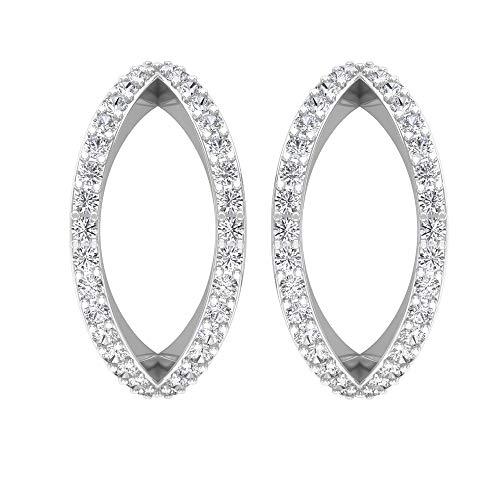 Rosec Jewels 10 quilates oro blanco round-brilliant-shape H-I Diamond