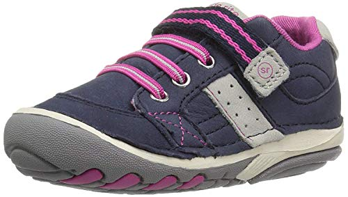 Stride Rite baby girls Srt Soft Motion Artie Athletic Sneaker, Navy/Pink, 4 Toddler US