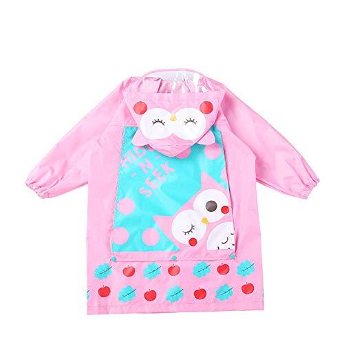 Guyuan Manteau de Pluie pour Enfants Garçons et Filles Manteaux de Pluie Poncho Respirant pour bébé avec Sac (Color : Red, Size : L)