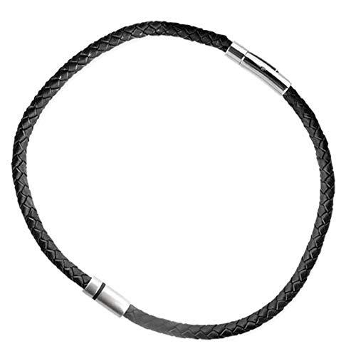LuxXL ''HIM'' Edelstahlanhänger mit schw. Lederband 48 cm (SK403XL)