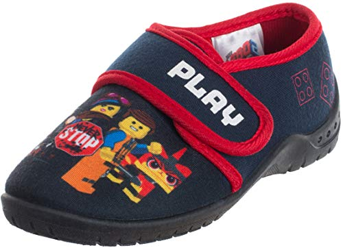 Brandsseller Play Movie Kinder Hausschuh Spielschuh - Never Stop Blau 27/28