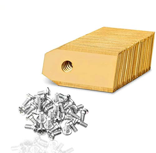 45x Titan Messer Klingen für alle Husqvarna Automower/Gardena Mähroboter, Ersatzmesser mit Schrauben Passend für 105 310 315 320 420 430x r40i uvm
