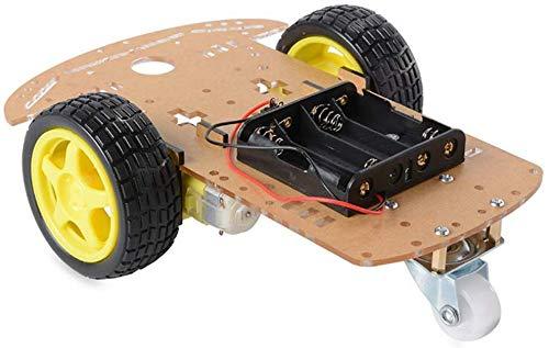 Mnjin DIY programmierbare Roboter 2-Rad-Antrieb Mart Car Chassis, Roboterplattform, Tracing Car Bottom Plate, Rennwagen DIY Kit für Arduino, STEM Lernspielzeug