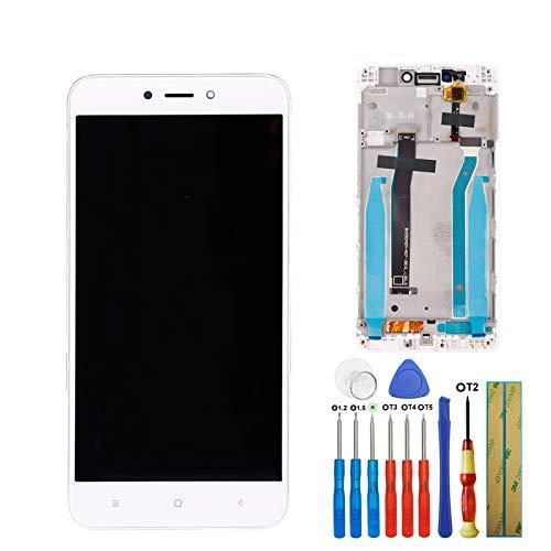 E-YIIVIIL - Schermo digitale LCD compatibile con Xiaomi Redmi 4X, in vetro touch screen + telaio da 5,0 pollici, colore: Bianco