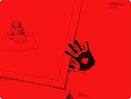 Schreibtischauflage für Linkshänder - Pop-Rot: Alle Klassenstufen (Linkshändigkeit)