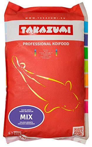 Takazumi Mix - Koifutter Futtermix 4,5 mm Wachstum & Gute Farbentwicklung für Koi Fischfutter - 10 kg Futter Sack