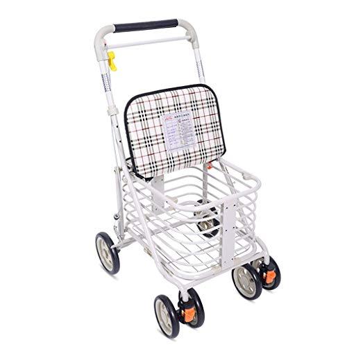 Rollatoren Einkaufstrolleys Einkaufswagen Home Trolley Old Man Scooter Faltbarer Rollstuhl Vier Rädern Kann Zu Hause Sitzen Um Einen Food Truck Zu Kaufen Kann 100 Kg Tragen