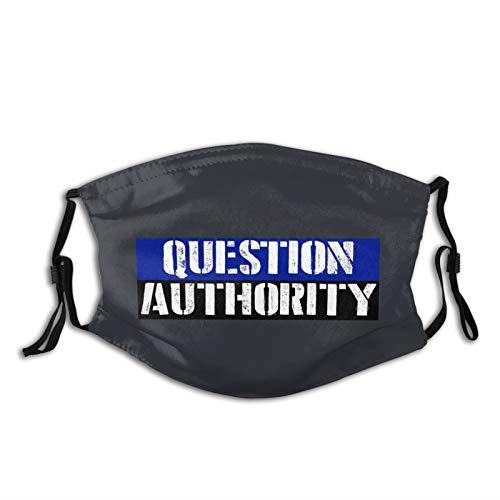 Unisex Face Mask Question Authority Masks Outdoors Anti-Dust Adjustable Black