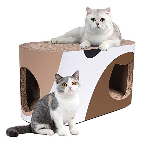 Roomingcare 猫つめとぎ 爪とぎ 猫トンネル キャットトンネル 猫 ベッド 猫ハウス 高密度 強化ダンボール