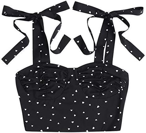ZAFUL Crop Top Women Teen Girl Shoulder Tie Ruffle Cami Tank Top product image