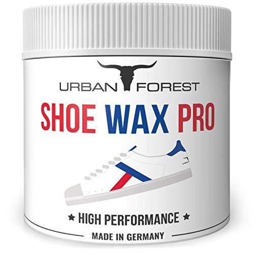Schuhcreme farblos für professionelle Schuhpflege und Schuhreinigung | Schuhreiniger für Leder & Kunstleder | Schuhe pflegen leicht gemacht mit Shoe Wax Pro von URBAN Forest, Größe:250ml