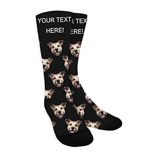Dreamdecor Socken Personalisiert Foto, Socken Individuell, Gesicht der Haustiere Foto in Socken für Herren Damen