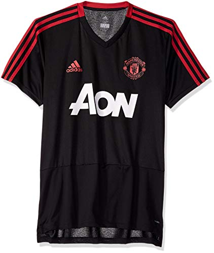 World Cup Soccer Manchester United Men's Soccer Training Jersey, Black, Medium