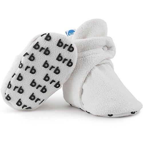 BirdRock Baby Botines de Bebé - Suave Algodon Organico, Mejor Que Calcetines! - Zapato Bebés (US 1, Cream)