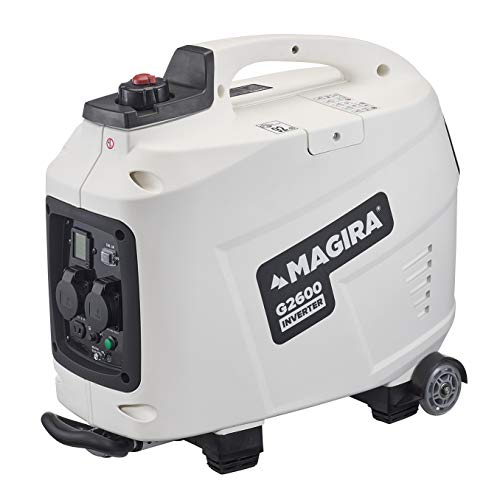 MAGIRA 2,6kW Inverter-Stromerzeuger, 2,6 kW Digital Benzin Strom-Aggregat mit Trolley-Funktion in 7 Varianten: 0,8kW - 3,3kW
