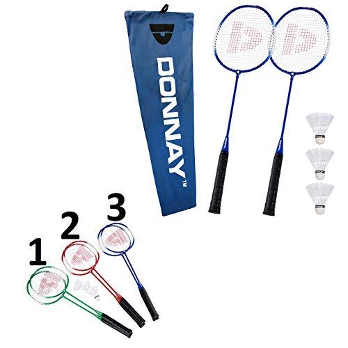 Les Colis Noirs LCN - Set Jeu de Badminton pour 2 Personne - Mod3 Bleu - Jeu Sport Loisir Extérieur - 921