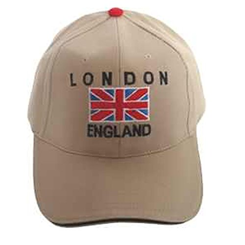 Baseball Caps - Union Jack Embroidery with London...