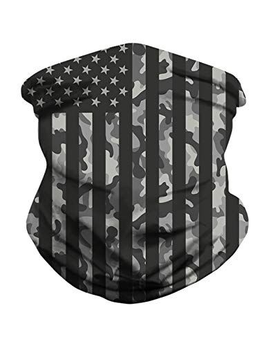 Neck Gaiter Bandana Face Mask Non Slip Ultra Breathable Balaclava for Wind Sun UV and Dust Protection Head Wrap (N-US Flag Printed, 1 pcs)