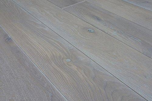 Handmuster Massivholzdielen Eiche 20 x 186 mm, gebürstet, weiß geölt Länge: 500-2450 mm (1 PE / 1 m²) 65,40 € / m²