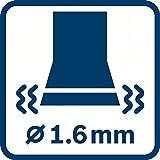 Bosch Professional Schwingschleifer GSS 140-1 A mit Staubbox inkl. Microfilter 2 x Schleifblatt 1x Schleifplatte Karton (180 Watt Schleifplatte L/B: 101 mm x 113 mm) - 9