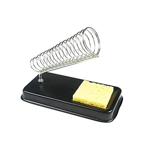 LIXIAONMKOP Porte-stand de fer à souder électrique avec nettoyage à souder Pads éponges de nettoyage générique résistance à haute température (Color : A)
