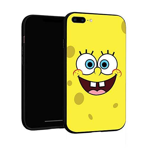 N / A iPhone 7 Plus Case 8 Plus Case Basic Case Plastic Cover for iPhone 7P/8P (Sponge-bob)