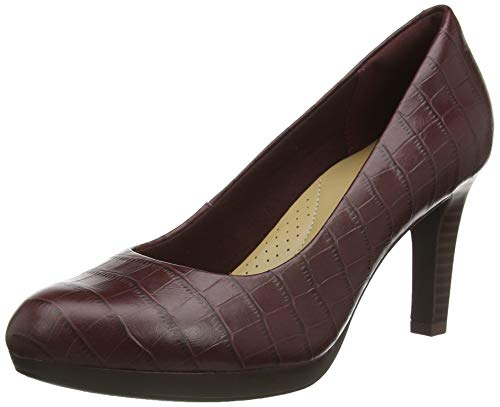 Clarks Damen Adriel Viola Uniform-Schuh Pumps, Burgundy Intrest, 41 EU