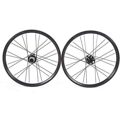 TYXTYX Juego de Ruedas para Bicicleta, Juego de Ruedas para Bicicleta de montaña, Llantas MTB de Doble Pared de 24 Orificios, Freno de Disco híbrido de liberación rápida Ruedas de Bicicleta de Alea